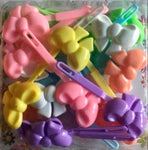 pastel bow barrette mix