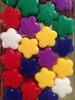 large Multi Color Flower Hair Beads