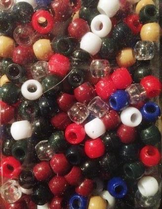 240pk Medium School Colors Hair Beads