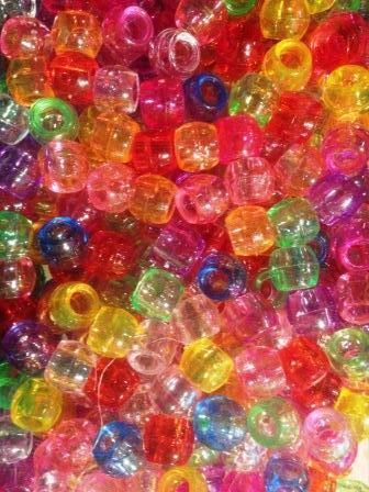 240pk Multi Color Translucent Hair Beads