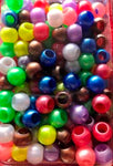 medium chubby bright hair beads