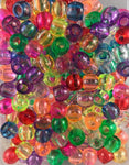 240pk Medium Hair Beads Multi-color translucent