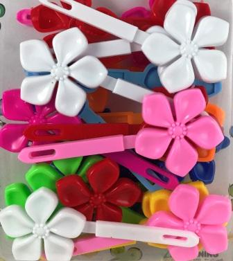 Assorted Color Flower Kids Barrettes