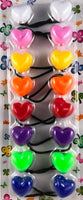 Assorted color heart hair bobbles