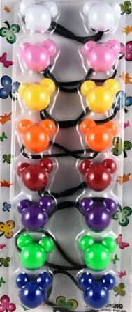 Assorted color mickey hair ballies
