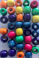 Multicolor Wooden Hair Beads