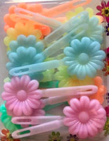 Neon Flower barrettes