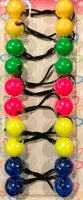neon assorted color hair ballies