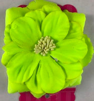 Neon Yellow Flower Hair Bow