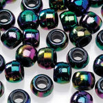 opaque black pony hair beads