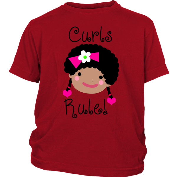 Curls Rule! Tshirt (Youth Sizes)