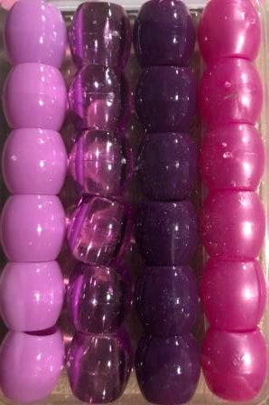 Shades of purple barrel hair beads for braids