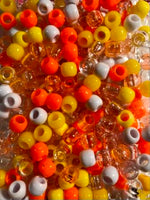 shades of yellow and orange medium hair beads