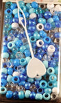 Small shades of Blue Hair Beads 800 Pack