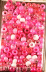 Small Shades of Pink Hair Beads 800 Pack