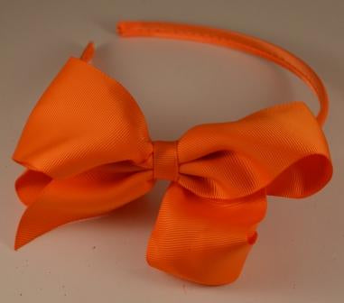 X-Large Orange Bow Headband
