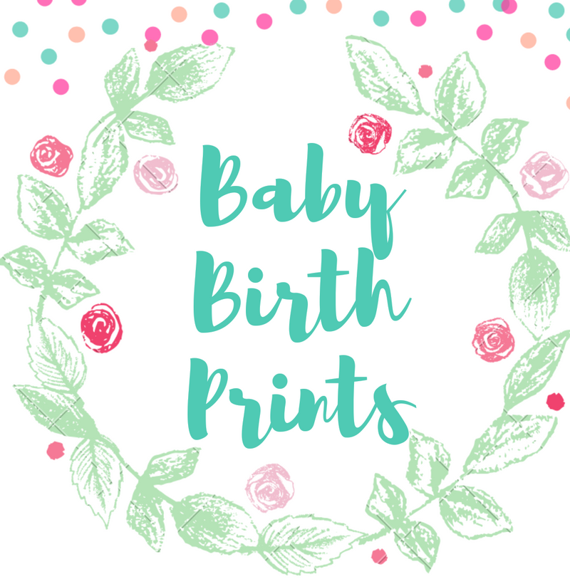 Customised Baby Birth Prints