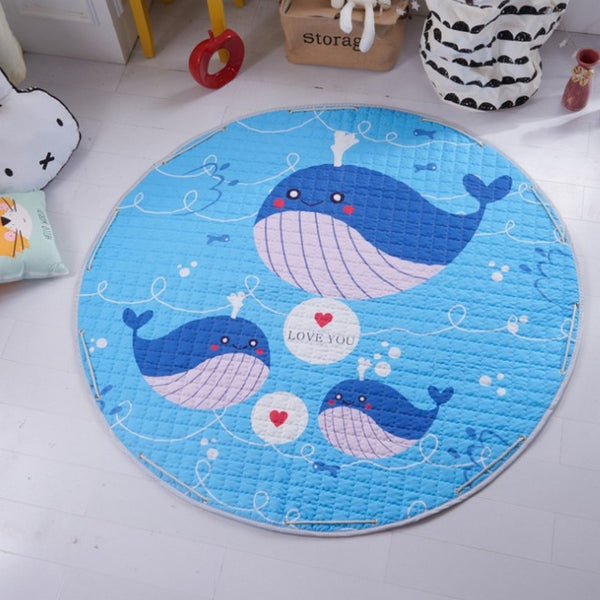 Beautiful Baby & Kids Fun Playmat Circle 150cm - Whale Whale Whale!
