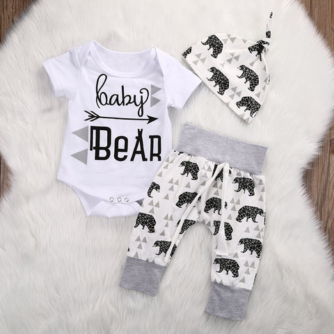 Baby Bear Print 3pc Set