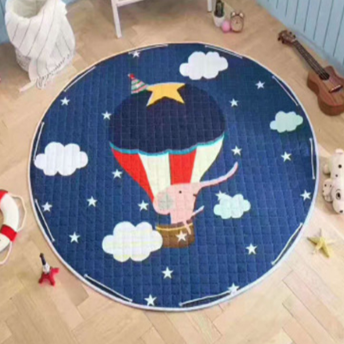 Beautiful Baby & Kids Fun Playmat Circle 150cm - Balloon Ride