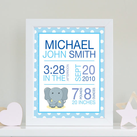 Baby Info Print - The Michael