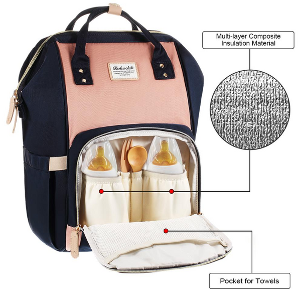 **IN STOCK NOW! 5-7days Shipping to AUS addresses** Premium Baby Bag/Nappy Backpack - NAVY & BEIGE