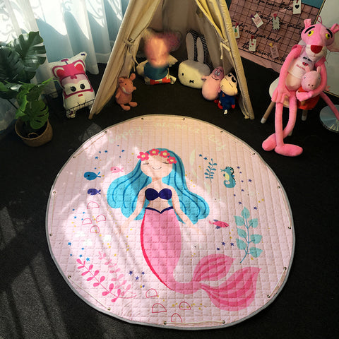 Beautiful Baby & Kids Fun Playmat Circle 150cm - Pastel Mermaid Princess