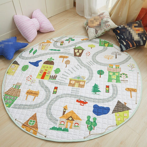 Beautiful Baby & Kids Fun Playmat Circle 150cm - Road Trip