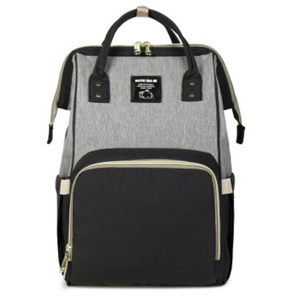 **IN STOCK NOW! 5-7days Shipping to AUS addresses** Premium Baby Bag/Nappy Backpack - BLACK & GREY