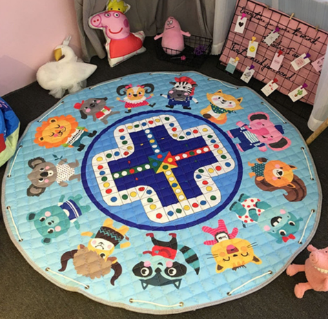 Beautiful Baby & Kids Fun Playmat Circle 150cm - Day at the Zoo