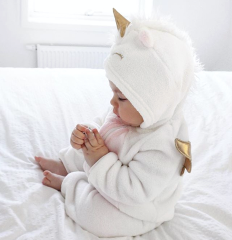 Adorable Hooded Baby Unicorn Onesie v.2019