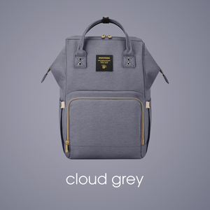 **IN STOCK NOW! 5-7days Shipping to AUS addresses** Premium Baby Bag/Nappy Backpack - CLOUD GREY
