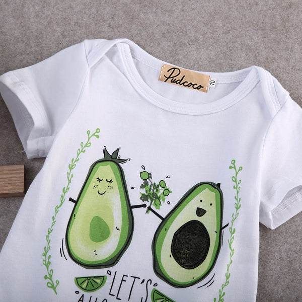 """Let's Avocuddle"" Super Cute Avocado Onesie"