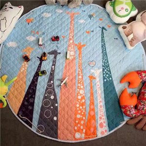 Beautiful Baby & Kids Fun Playmat Circle 150cm - Giraffe Family