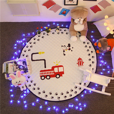 Beautiful Baby & Kids Fun Playmat Circle 150cm - Firetruck