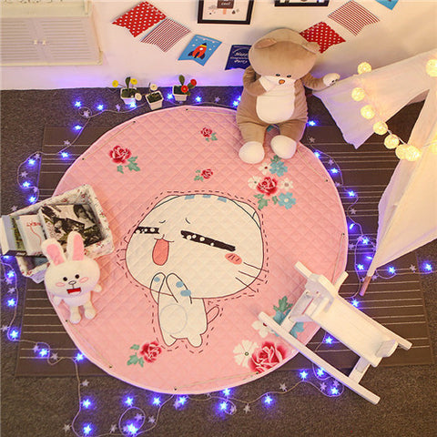 Beautiful Baby & Kids Fun Playmat Circle 150cm - Pink Kitty Cat