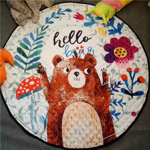 **IN STOCK NOW! 5-7days Shipping to AUS addresses** Beautiful Baby & Kids Fun Playmat Circle 150cm - Hello Bear