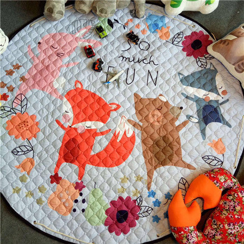 Beautiful Baby & Kids Fun Playmat Circle 150cm - Fun Foxy Family