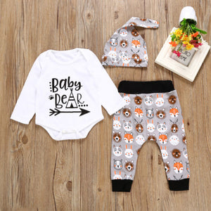 Woodland Animals Baby Bear Themed 3pc Set