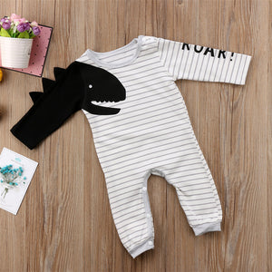 Dinosaur Roar Long Sleeved Romper