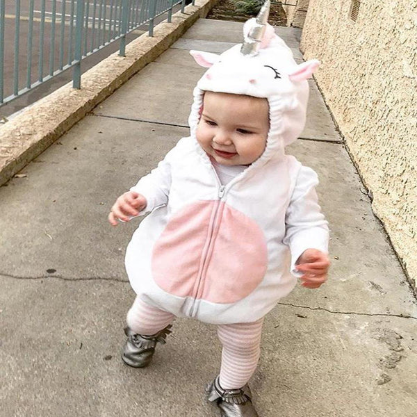 Adorable Hooded Baby Unicorn Onesie