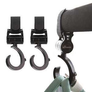 Swivel Pram / Stroller Hooks for Nappy Backpack, Bags & Totes