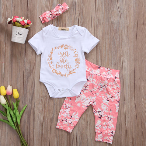 """Isn't She Lovely"" Floral 3pc Set"