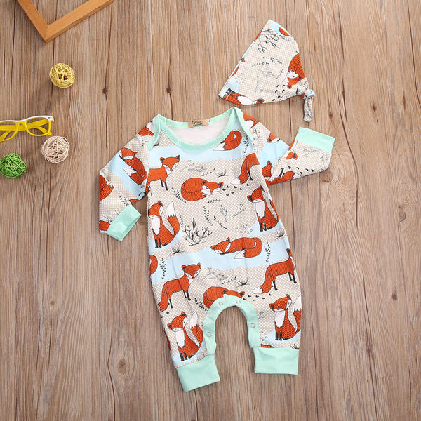 Fun Foxy Romper & Beanie 2pc Set