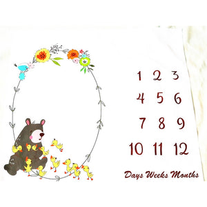 Newborn Baby Age Milestone Photography Sheet - Brown Bear