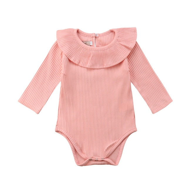 Pretty Pastel Ribbed Onesie Bodysuit (5colours)