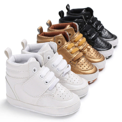 Trendy Baby High Tops Sneakers Shoes (3colours)