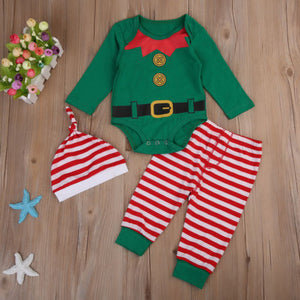 Christmas ELF Long Sleeved 3pc Set