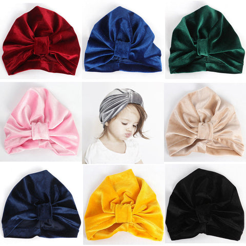 Soft & Super Stylish Velvet Turban Beanie (5colours)