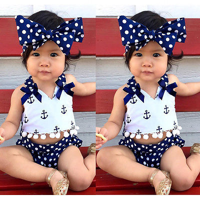 Little Miss Sailor Nautical 3pc Set